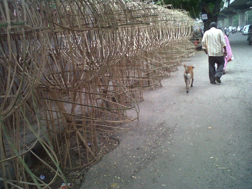Ravan in making - Dusshera 2012