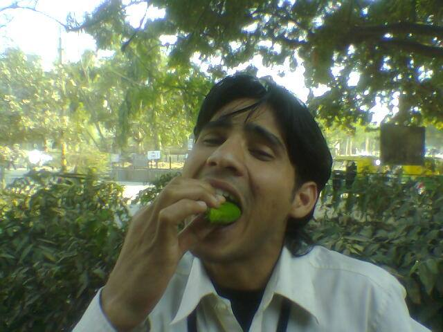 Bagish eating Paan