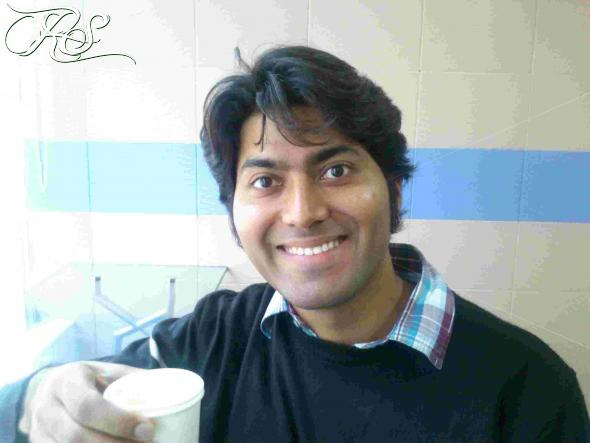 A very happy Ravi Sagar
