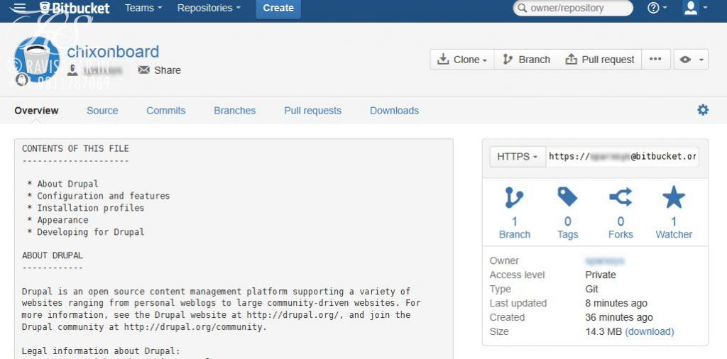 Duplicating a git repository to another repository - Bitbucket
