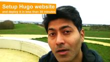 Setup Hugo website and deploy it in less than 30 minutes